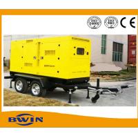 China Mobile Portable Silent Diesel Generator Set with Trailer 200KW 1500 RPM wholesale