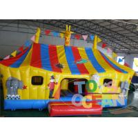 Quality Funny Inflatable Animal Zone Cartoon Bounce Combo For Childhood Amusement for sale