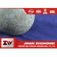 China Grinding Media Forged Steel Ball For Ball Mill Machinery , HRC 58-64 Breakage ≤1% wholesale