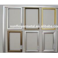Buy cheap Aluminium picture frame extrusions, anodized aluminum picture frames, brushed from wholesalers