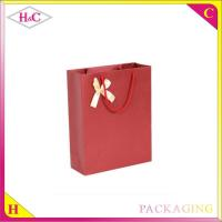 Quality Manufacture and sale handle paper upscale cheaper wine gift shopping bag with for sale
