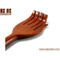 China solid wood back scratcher teak wood back scratcher exotic wood back scratcher  brown ,beige wholesale