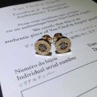 China Bvlgari  brand jewelry gem earring in 18 kt gold 18k gold jewelry wholesale