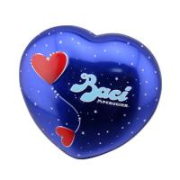 Buy cheap Baci Chocolate Tin Box Heart Shaped Metal Can With Base Blue Color from wholesalers