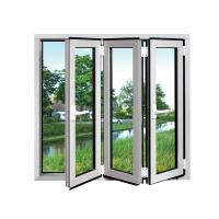 China White Safety Double Folding Glass Windows waterproof Coated With Grill wholesale