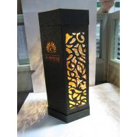 China creative wine packaging box with LED light wholesale