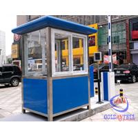 China Columniform Tall Stainless Steel Sentry Box / Security Booth And Glass-Window For Watching wholesale