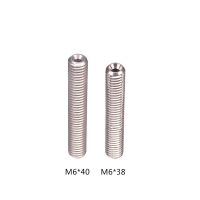 China Screw Thread Stainless Steel M6 3D Printer Throat Length 38mm 35mm wholesale