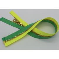 China Open End Coats All Purpose Zipper 5# / 8# , Yellow Green Tape Coats Invisible Zipper wholesale