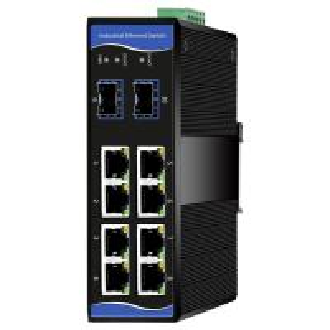China Managed Industrial Grade Ethernet Switch 8 Gigabit RJ45 ports+2 Gigabit SFP ports wholesale