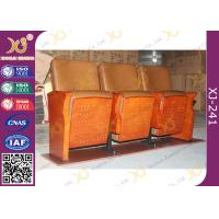 China Low Back Synthetic Leather Auditorium Movie Theater Seats / Church Folding Chairs wholesale