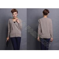 Buy cheap Womens Fine Knit Sweaters With Pockets V neck Cashmere Cardigan from wholesalers