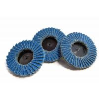 China Assorted 2 Zirconia Type R Flap Abrasive Sanding Discs Wheels 40 60 80 Grit on sale