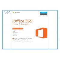 Quality Microsoft Office 365 Home 1 year subscription 5 users, PC / Mac Key Card for sale