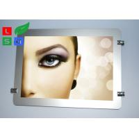 China Round Corner LED Light Box Display , Magnetic Photo Light Box With Wire Hanging System wholesale