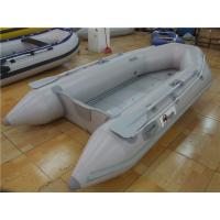 China V Shaped PVC Inflatable Boat With 4 Individual Air Chambers / Aluminum Floor wholesale