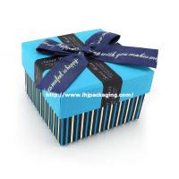 Buy cheap paper box with ribbon from wholesalers