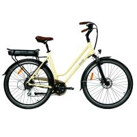 """China 28"""" Electric Assist Commuter Bike LCD Display climb hill 12° Brushless Motor wholesale"""