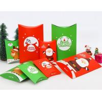 China Custom Panton Pillow Christmas Packaging Boxes White Coated Paper Material on sale