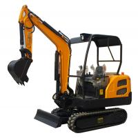 China 360° rotation  compact  rubber track excavator with dozer blade