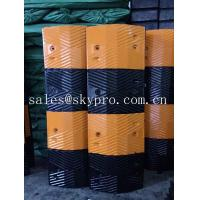 China Reflective rubber speed hump Molded Rubber Products road speed ramp wholesale