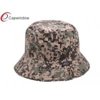 Quality Mens Camouflage Printed Fisherman Bucket Hat With A Woven Label for sale