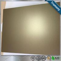 China Golden Scrub 	Aluminum Flat Plate Based On PE Layer Decoration Building wholesale