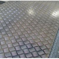 China Roll Aluminium Floor Plate 2mm Thick , Aluminum Tread Plate Embosssed Sheet wholesale