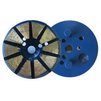 China 3 Inch 10 Diamond 8mm(H)Segments Metal Bond Diamond Grinding Discs for Concrete wholesale
