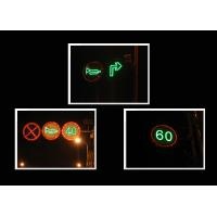 China Waterproof Closed Warning Solar Traffic Signs 1HZ LED Flashing Signs wholesale