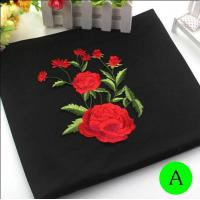 China Polyester Embroidered Iron On Patches Appliques With Boutique Rose Flower 19*14 cm wholesale
