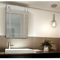 Quality Silver Wall Mount Bathroom Mirror With Lights / Clear Anti Steam Bathroom Mirror for sale