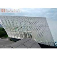 Quality Sound Insulation / Shockproof Aluminum Facade Panels Gold Shine For Buildings for sale
