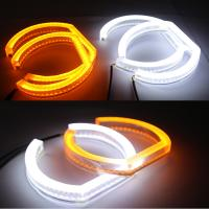 China Dual color SMD LED Angel Eyes DRL turn signal light for BMW F30 F35 E90 E92 LED Angel Eyes wholesale