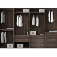 China Pull Out Cloth Rack Walk In Closet Cabinets , Melamine Finish 4 Door Wardrobe on sale