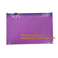 Hot sale customized Slider bubble bag, Reclosable Bubble zip lock packaging bag,Insulation Packing Bag Thermal 3D Box Li