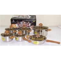 China 12 PCS Stainless Steel Cookware Set with Body Thickness 0.5mm wholesale