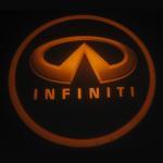 Infiniti emblem door logo light 12v 3w LED Door Projector Lights with car badge