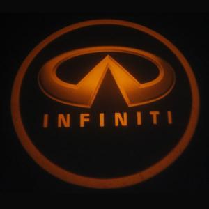 Quality Infiniti emblem door logo light 12v 3w LED Door Projector Lights with car badge for sale