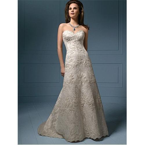 53 Wedding Dress : Brand new sexy champagne strapless lace wedding dress a