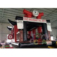 China Customized Ninja Warrior Commercial Grade Bounce House With Happy Birthday Banner wholesale