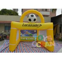 China PVC Lucozade Inflatable Soccer Shooting Goal For Football Playing wholesale