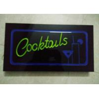 China 23X43cm Cocktails  Illuminated Sign With Four Display Modes  Window Signage wholesale