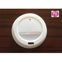 China 7oz 75mm Disposable Plastic Lids PS Material for White Coffee Cup wholesale
