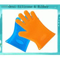 China Five fingers high temperature resistance rubber silicone  gloves wholesale