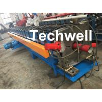 China 0-15m/Min Forming Speed Downpipe Machine, Rainspout Roll Forming Machine With Coil Thickness 0.4-0.6mm wholesale