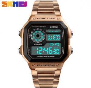 China Wholesale Skmei Vogue  Men Sport  Dual Time EL Luminius Square Alarm Chronograph Count Down  Timer 5 ATM Watches 1335 wholesale