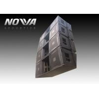 China High Powered Line Array Speakers For Big Performance , Black Color on sale