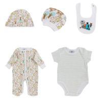 China Green Romper Summer Newborn Baby Clothes Set , O - Neck Newborn Baby Grows wholesale
