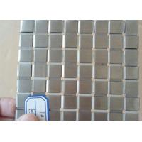China Decorative Flat Wire Mesh Stainless Steel Plain Weave For Exhibition Hall wholesale